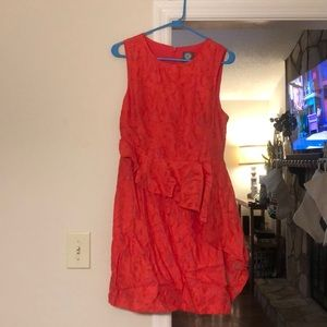 Vince camuto red cocktail dress
